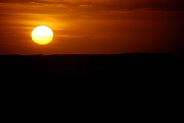 ©P.Romero: Sunset over Tintagel, Cornwall (2016)