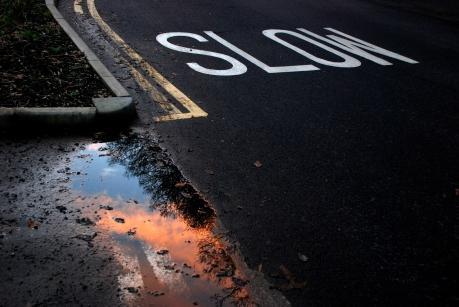 ©P.Romero: Sunset on The Road Taken, Southampton, UK (2014)